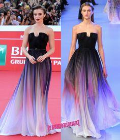 Un look de 10 para Lily Collins de Elie Saab Couture