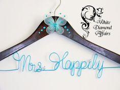 Personalized Wedding Hanger Hanger by WhiteDiamondAffairs on Etsy, $22.95