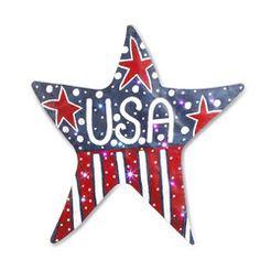 Light up Patriotic Star for your Front Door -USA Star Door Hanger #MemorialDay, #4thofJuly,