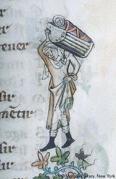 Detail from the Voeux de Paon (ms g.24 fol 10r), Morgan Library in Northern France.