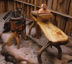 Shaving horse & tool caddy