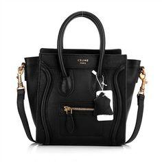 Bolsa Céline Luggage Nano Black Bolsa Celine d2c8f7aa00d42