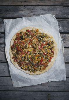 Roasted Vegetable & Cornbread Pizza : ImmerWachsen.com : by Hannah Mendenhall