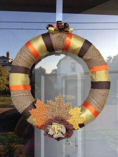 Homemade Fall Wreath. I make these to order!!