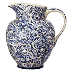 John Lewis Blue Patterned Ceramic Jug