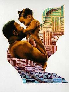 Keith Mallett - father and child. #NaturalHair #NaturalHairArt