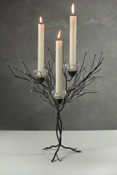 tabletop metal twig tree candle holder. you can spray paint any color. only $15 ea or $13 each if you buy 4