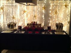 Nate's Hollywood Theme Party - dessert & candy buffet