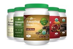 Amazing Meal is packed with Amazing Grass Green Superfood + plant-based protein from brown rice, hemp, quinoa and pumpkin seed. Dairy-free, soy-free, vegan.