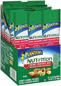 Planters Nutrition Heart Healthy Mix, 1.5 Ounce (Pack of 18) *** Read more reviews of the product by visiting the link on the image.