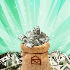 A never ending bag of cash from PCH to me! Win For Life, Yellow Envelopes, Change Is Coming, Publisher Clearing House, Online Sweepstakes, Winning Numbers, Enter To Win, One In A Million, Dream Boards