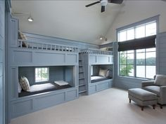 Sherwin Williams 7658 Gris Bunks and panelling are Sherwin Williams 7658 Gris. #SherwinWilliams 7658 #Gris
