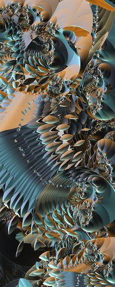 Dragonbird by FractsSH.deviantart.com fractal art made with mandelbulb 3d