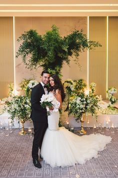WedLuxe – The Bride Wore Ines Di Santo at this Four Seasons Toronto Wedding   Photography by: Purple Tree Photography Follow @WedLuxe for more wedding inspiration!