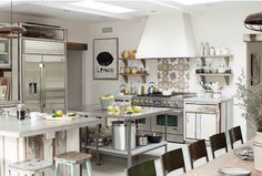 Wood and Steel free standing kitchen unit