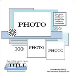 Sketch N Scrap #62 - Scrapbook.com- a fun layout sketch with various layer options
