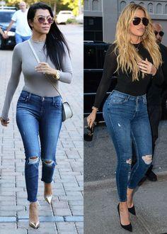 Kourtney Kardashian Copies Khloé's Style, Jokes About Not Having Her Famous Booty Kourtney Kardashian, Khloe Kardashian