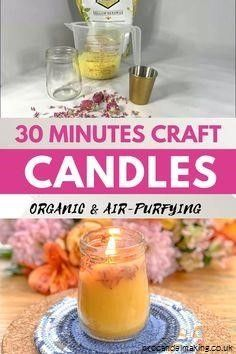 """""""How to Become a Master Candle Maker For Fun or Profit..."""" Soon, you'll finally learn how to make wonderful smelling candles that put those expensive candles sold in stores to shame. It's easy, fun and very rewarding! The best soy candle making kits Showcasing Top soy candle making kits #soy candle making kits #craft #DIY #pqvi Diy Candles Easy, Making Candles, Diy Organic Candles, Diy Candle Ideas, Diy Candle Projects, Diy Candles Video, Diy Candles To Sell, Diy Candle Labels, Diy Aromatherapy Candles"""