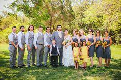 coral and yellow wedding colors   bridespub-yellowgrey