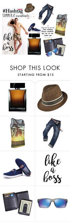"""LIke A Boss"" by inggridchen on Polyvore featuring Dolce&Gabbana, Kaminski XY, Royce Leather, Oakley, men's fashion and menswear"