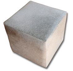 New Cowhide Cube Ottoman Foot stool natural Grey Cow Hide Furniture Grey Cube Cowhide Furniture, Cowhide Ottoman, Cow Hide, Cube, Stool, Ebay, Natural, Home Decor, Leather Ottoman