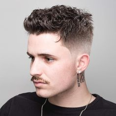 Popular Mens Hairstyles Curly (Trending For – Easy Hairstyles - Coiffure Sites Short Haircut Styles, Best Short Haircuts, Cool Haircuts, Hairstyles Haircuts, Haircuts For Men, Cool Hairstyles, Hairstyle Short, Indian Hairstyles, Stylish Haircuts