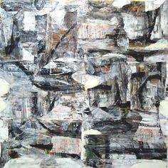 "Peeling Potatoes (mixed technique on canvas) 44""x44"" 2011"