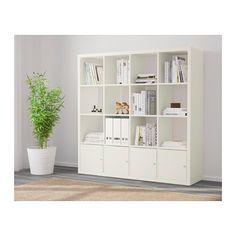 KALLAX Regal mit 4 Einsätzen - weiß - IKEA – 147cm, vermutlich zu breit