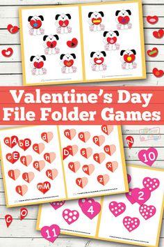 Valentines Day File Folder Game - Learning Games For Kids