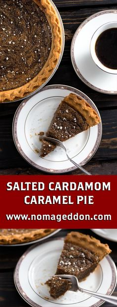 Prove you're a grown up now with this Cardamom & Salted Caramel Pie. An incredibly easy to make pie that you can bake in less than an hour.