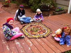 A fall nature mandala - fun for all ages!