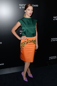 Lea Seydoux - 2014 National Board Of Review Awards Gala in NYC 7 January 2014 in Prada Spring 2014 Top & Skirt