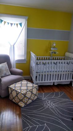 project nurseri, stripe, grey nurseri