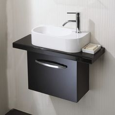 40cm Wall Mounted Vanity Unit. Tiny Sink BathroomBathroom ...