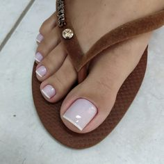 Acrylic Toe Nails, Pink Toe Nails, Simple Toe Nails, Pretty Toe Nails, Cute Toe Nails, Summer Toe Nails, Pink Toes, Lace Nails, Feet Nails