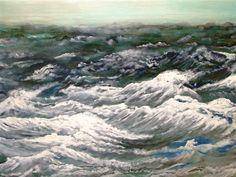 Hoek van Holland, Öl auf Leinwand, 100 x 140 cm, Malerei von Willi Gottschalk