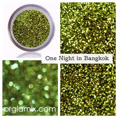 One Night In Bangkok Glitter Pigment - A fun way to spice up your holiday look!