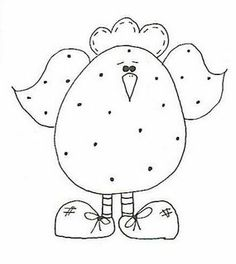 Love this polka dot chick Applique Patterns, Applique Designs, Quilt Patterns, Embroidery Designs, Chicken Crafts, Chicken Art, Embroidery Stitches, Hand Embroidery, Motifs D'appliques