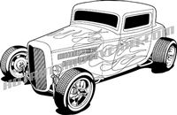 '32 ford deuce coupe hot rod - 3/4 view