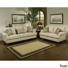 @Overstock.com - Prosper Sofa and Loveseat Furniture Set - Add a casual, relaxed air to your living room or den with this stylish microfiber sofa and loveseat set. This neutral-colored two-piece living room set features polyester/cotton upholstery and a hardwood frame for long-lasting durability and good looks.  http://www.overstock.com/Home-Garden/Prosper-Sofa-and-Loveseat-Furniture-Set/5980958/product.html?CID=214117 $1,825.99