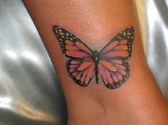 One of the most popular tattoo designs in the world is the butterfly tattoo. The butterfly tattoo is mainly worn by women. Butterfly tattoos can also hold symbolic importance to those who wear this beautiful tattoo. Just like all animal tattoos, the. Butterfly Ankle Tattoos, Monarch Butterfly Tattoo, Butterfly Tattoos Images, Butterfly Tattoo Designs, Tattoo Designs For Girls, Tattoo Images, Butterfly Symbolism, Tattoo Girls, Ankle Tattoo For Girl