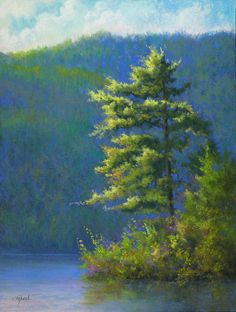 "©2013 Paula Ann Ford, Reaching for the Sun, Soft Pastels on Multimedia pastel board, 12""x9"" #Adirondack"