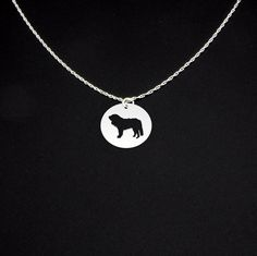 Pyrenean Mastiff Necklace - Sterling Silver