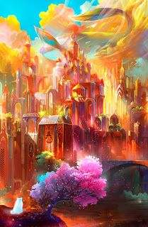 Fantasy landscape art castles posts ideas for 2019 Fantasy Artwork, Fantasy Art Landscapes, Fantasy Landscape, Landscape Art, Landscape Concept, Landscape Wallpaper, Fantasy Places, Fantasy World, Fantasy Kunst