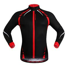 WOSAWE BC274 Mens Winter Thermal Fleece Long Sleeve Cycling Jersey M Red    Find out more about the great product at the image link.Note It is  affiliate link ... 764c1b553