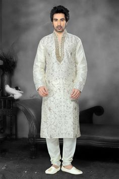 The Hyderabadi Kurta, which gets its name from Hyderabad, the capital city of the Indian state of Telangana, is also a form of the traditional Kurta. It can be distinguished by the presence of a keyhole neck opening and...>