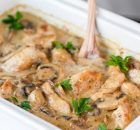 This Chicken Mushroom Casserole is delicious, creamy, and filled with tender juicy chicken and big slices of mushrooms. Chicken Mushroom Casserole, Mushroom Chicken, Couscous, How To Cook Chicken, Crepes, Casserole Recipes, Stuffed Mushrooms, Food And Drink, Turkey