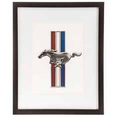 Mustang Emblem Black Framed Gallery Wall Art⎜Open Road Brands