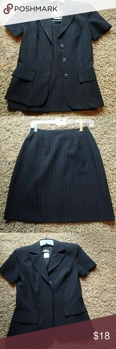 Two piece outfit Pinstripe two piece skirt and jacket Jodi Kristopher Skirts
