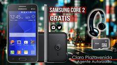 Llévate un Samsung Core 2 totalmente gratis con un plan de 180min+300msjs+3mbps por tan solo ¢18,850°° #ClaroPLazavenida